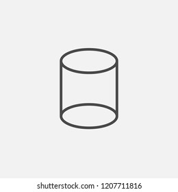 Cylinder line vector icon