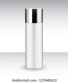 Cylinder Product Bottle Container Packaging Plastic PET with cap cosmetic liquid essence moisturizer serum drop