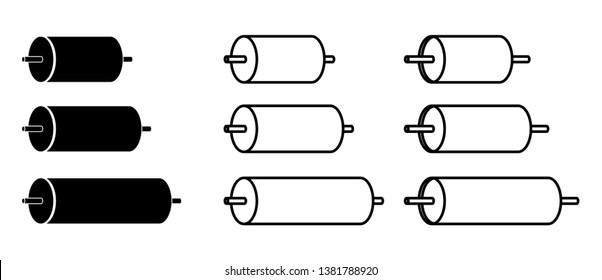 cylinder roller icon, vector illustration