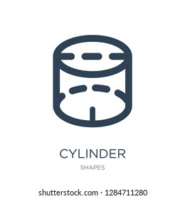 cylinder volumetrical icon vector on white background, cylinder volumetrical trendy filled icons from Shapes collection, cylinder volumetrical vector illustration