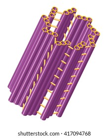 Cylindrical cell structure of centriole.