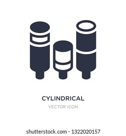 cylindrical data graphic icon on white background. Simple element illustration from Business concept. cylindrical data graphic sign icon symbol design.