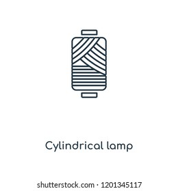 Cylindrical lamp concept line icon. Linear Cylindrical lamp concept outline symbol design. This simple element illustration can be used for web and mobile UI/UX.