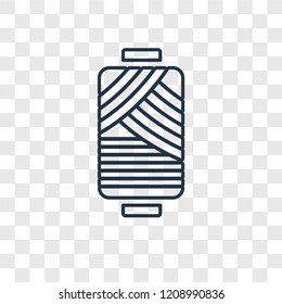 Cylindrical lamp concept vector linear icon isolated on transparent background, Cylindrical lamp concept transparency concept in outline style