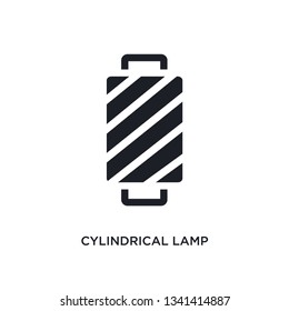 cylindrical lamp isolated icon. simple element illustration from woman clothing concept icons. cylindrical lamp editable logo sign symbol design on white background. can be use for web and mobile