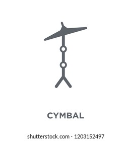 Cymbal icon. Cymbal design concept from Music collection. Simple element vector illustration on white background.