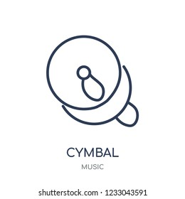 Cymbal icon. Cymbal linear symbol design from music collection. Simple outline element vector illustration on white background