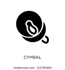Cymbal icon. Cymbal symbol design from Music collection. Simple element vector illustration on white background.