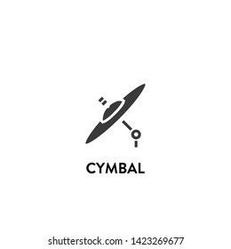 cymbal icon vector. cymbal vector graphic illustration