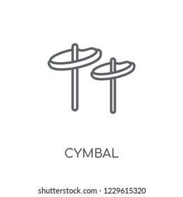 Cymbal linear icon. Modern outline Cymbal logo concept on white background from Music collection. Suitable for use on web apps, mobile apps and print media.