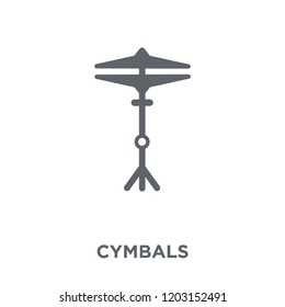 Cymbals icon. Cymbals design concept from Music collection. Simple element vector illustration on white background.