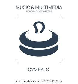 cymbals icon. high quality filled cymbals icon on white background. from music multimedia collection flat trendy vector cymbals symbol. use for web and mobile