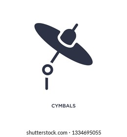 cymbals icon. Simple element illustration from music concept. cymbals editable symbol design on white background. Can be use for web and mobile.