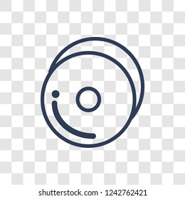 Cymbals icon. Trendy linear Cymbals logo concept on transparent background from Music collection