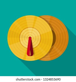 cymbals icon vector flat design.