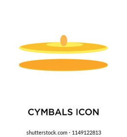Cymbals icon vector isolated on white background for your web and mobile app design, Cymbals logo concept