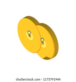 Cymbals isometric left top view 3D icon
