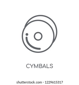 Cymbals linear icon. Modern outline Cymbals logo concept on white background from Music collection. Suitable for use on web apps, mobile apps and print media.