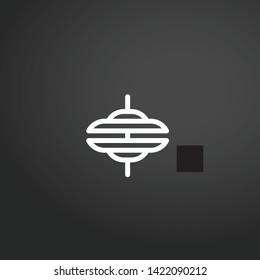 Cymbals vector icon. Cymbals concept stroke symbol design. Thin graphic elements vector illustration, outline pattern for your web site design, logo, UI. EPS 10.