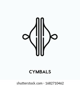 cymbals vector line icon. Simple element illustration. cymbals icon for your design. Can be used for web and mobile.