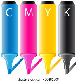 cymk - highlighter - print office