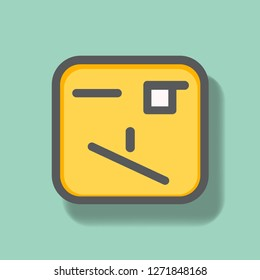 Cynical Face Icon. Face Icon Vector. For Multi Purpose