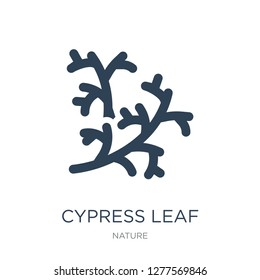 cypress leaf icon vector on white background, cypress leaf trendy filled icons from Nature collection, cypress leaf vector illustration