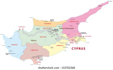 cyprus administrative map