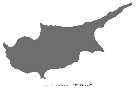 Cyprus map gray color