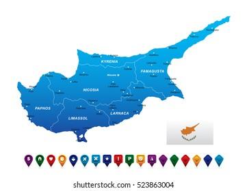 Cyprus Map vector illustration