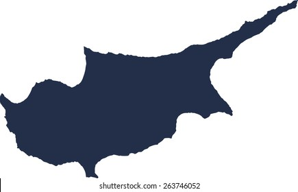 Cyprus Vector map. High detailed.