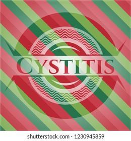 Cystitis christmas badge.