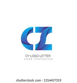 cz c z circle lowercase design of alphabet letter combination with infinity suitable as a logo for a company or business - Vector