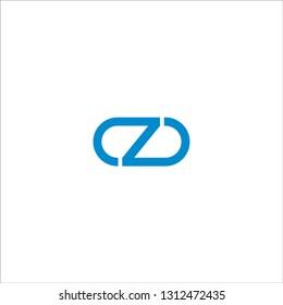 CZ C Z D Letter Logo Design