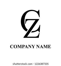 CZ Company initial logo design