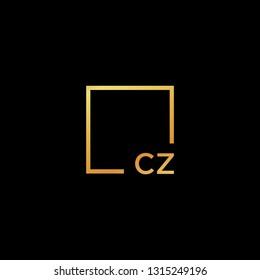 CZ GOLD MONOGRAM