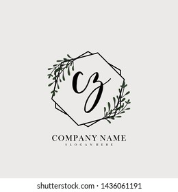 CZ Initial beauty floral logo template