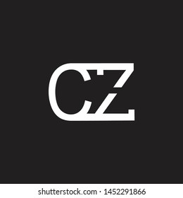 CZ intial logo Capital Letters black background