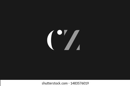 CZ Letter Logo Design with Creative Modern Trendy Typography