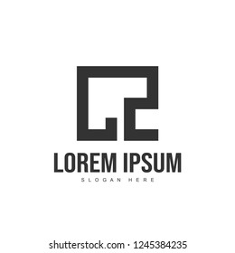CZ Letter logo design. Initial letter logo template design