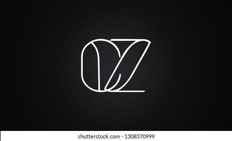 CZ Letter Logo Design Template Vector