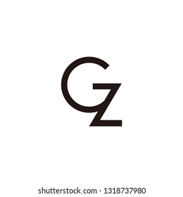 cz letter vector logo. gz letter vector logo