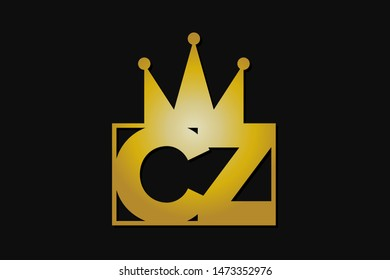cz logo with gold crown
