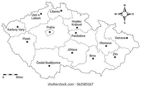 Map Of Czech Republic Images Stock Photos Vectors Shutterstock