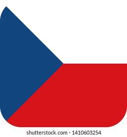 czech republic flag europe illustration vector eps