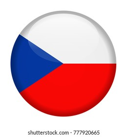 Czech Republic Flag Vector Round Icon - Illustration