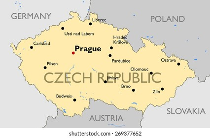 Map Of Germany And Czechoslovakia.Czech Republic Map Images Stock Photos Vectors Shutterstock