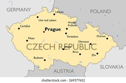 Czech Republic Outline Images, Stock Photos & Vectors ...
