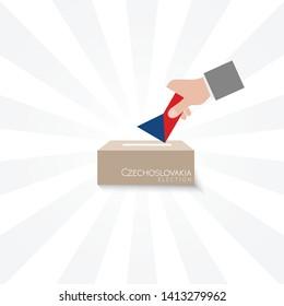 Czechoslovakia Elections Vote Box Vector Work