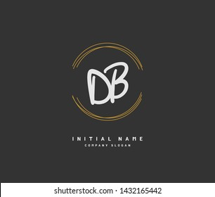D B DB Beauty vector initial logo, handwriting logo of initial signature, wedding, fashion, jewerly, boutique, floral and botanical with creative template for any company or business.
